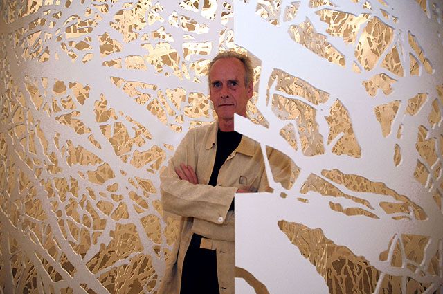 Jan Hendrix, en la inauguración de la exposición