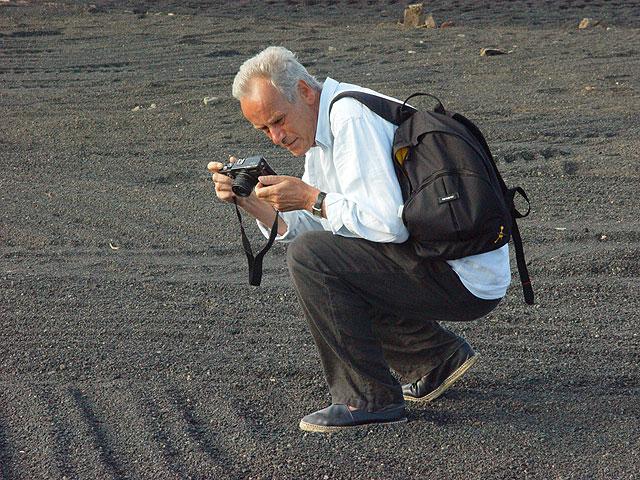 Jan Hendrix, trabajando en Lanzarote