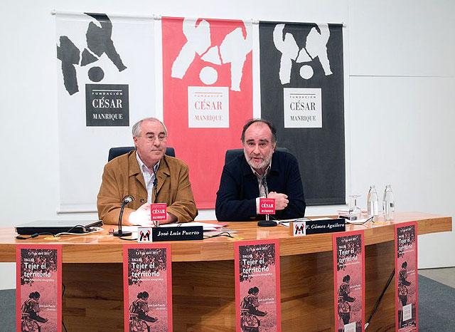 José Luis Puerto, director del Taller Tejer el territorio y Fernando Gómez Aguilera, director de la Fundación César Manrique