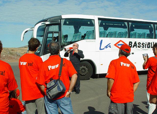 Leo Bassi, antes de comenzar el recorrido