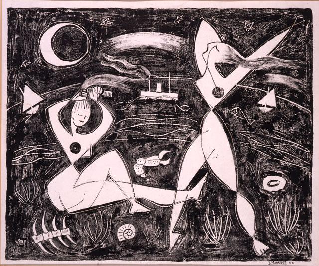 Mujeres junto al mar, 1953