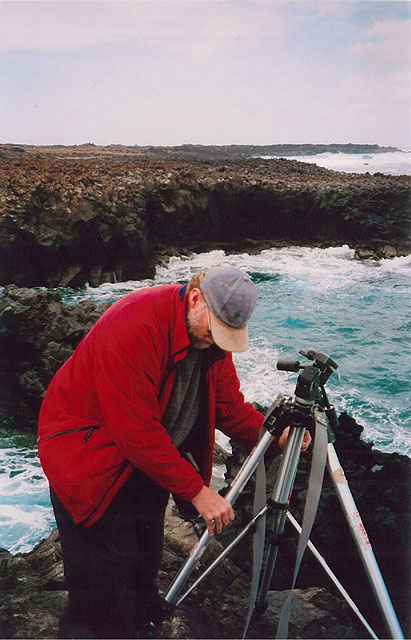Thomas Joshua Cooper, trabajando en Lanzarote