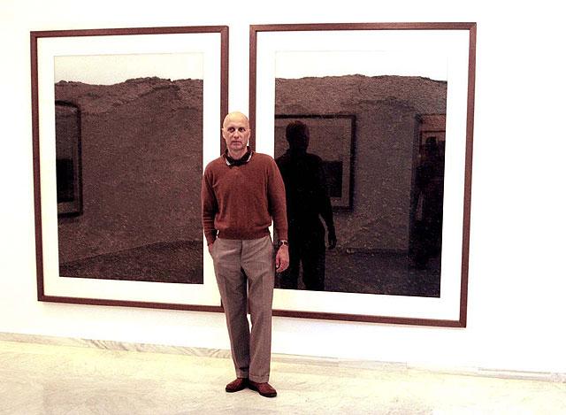 Axel Hütte, en la inauguración de la exposición